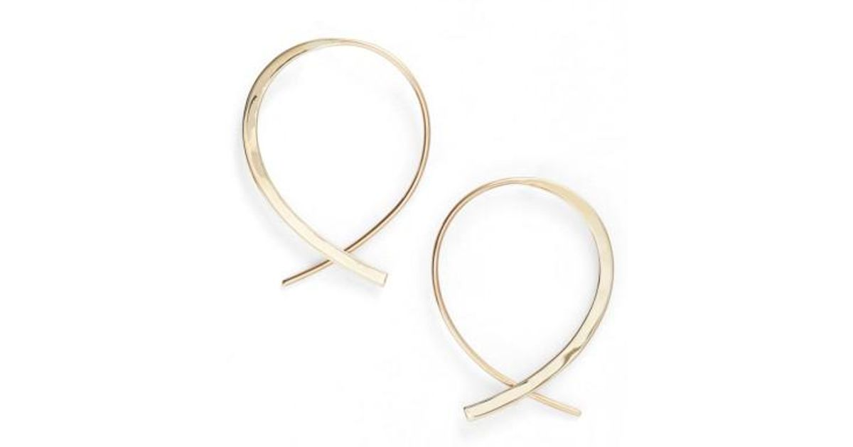 Lana Jewelry Small Solo Upside Down Diamond Hoop Earrings BiLdZEoVhD