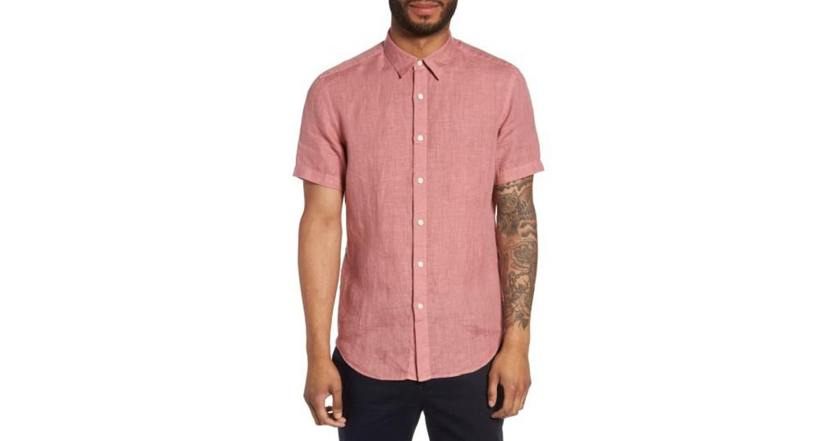 Cheap Eastbay Cheap Price Trim Fit Linen Sport Shirt Discount View Outlet Cheap Prices 100% Original zQBQC