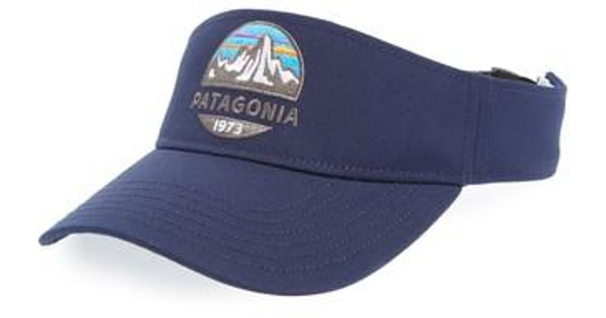 Lyst - Patagonia Fitz Roy Scope Visor in Blue for Men 00ad393ca09a
