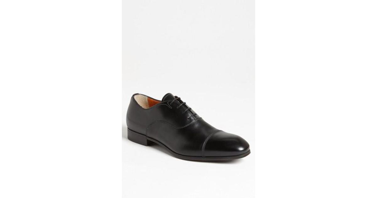 Oxford 11011 leather black Santoni a0RHlt