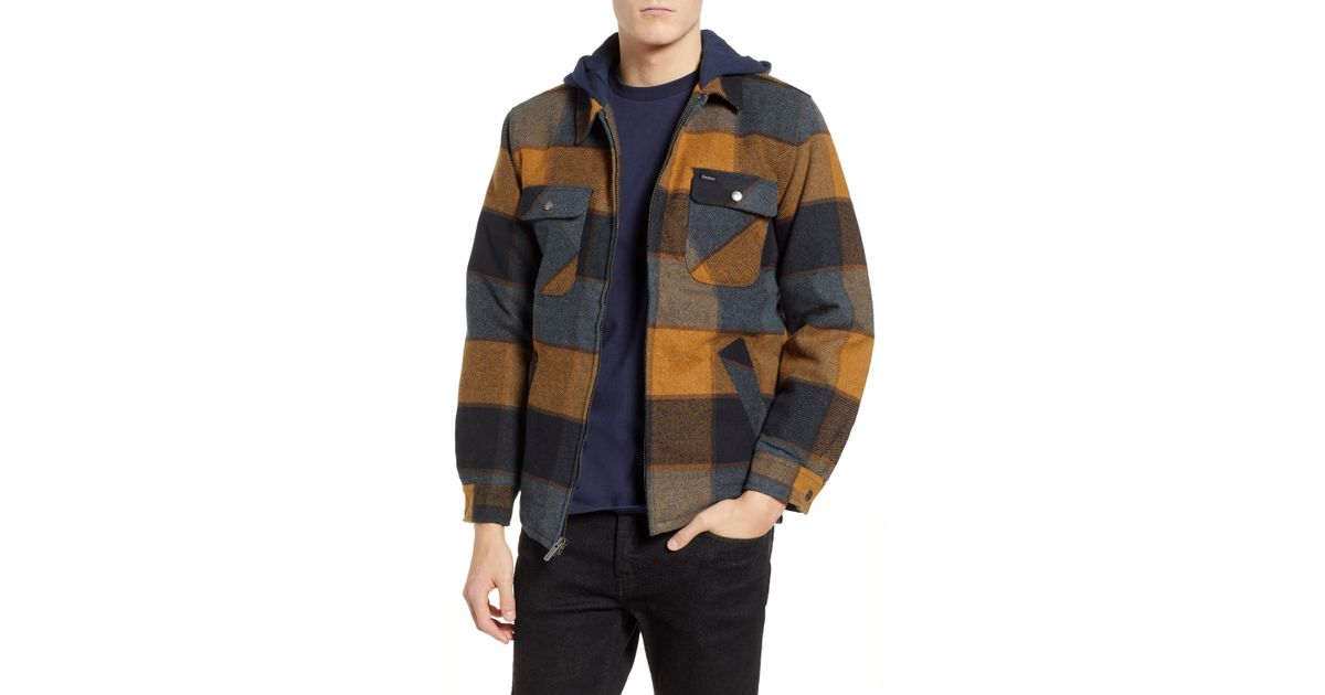 Lyst - Brixton Bowery Jacket in Blue for Men 3fef2c0c4a6
