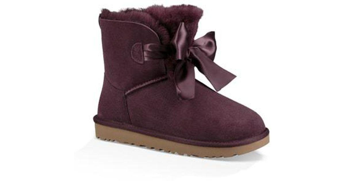 76f73dd311a Ugg - Purple Ugg Mini Gita Bow Boot - Lyst