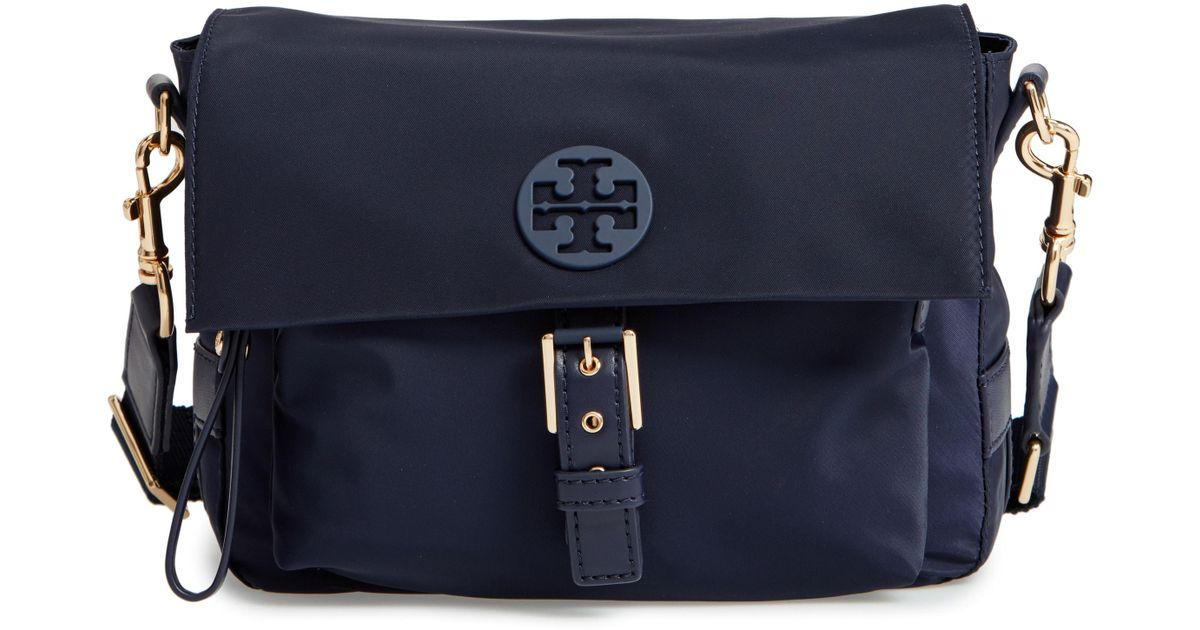 76c833fd463 Lyst - Tory Burch Tilda Nylon Crossbody Bag in Blue