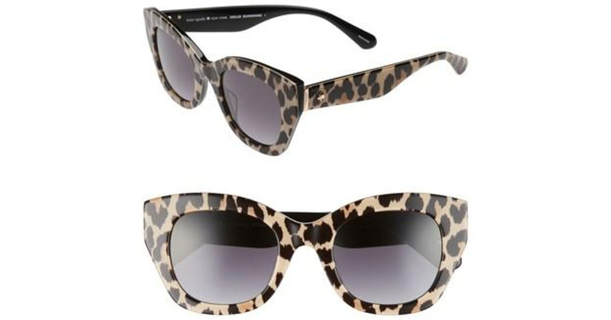 5749b32c32ef Kate Spade Jalena 49mm Gradient Sunglasses in Black - Save 41% - Lyst