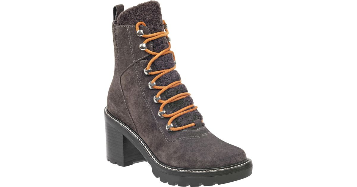 3e165feb56f9 Lyst - Marc Fisher Denise Combat Boot in Gray
