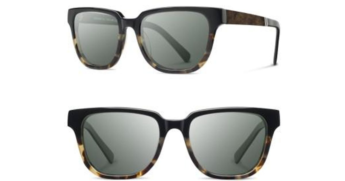 4cbba6609e Lyst - Shwood  prescott  52mm Acetate   Wood Sunglasses in Gray
