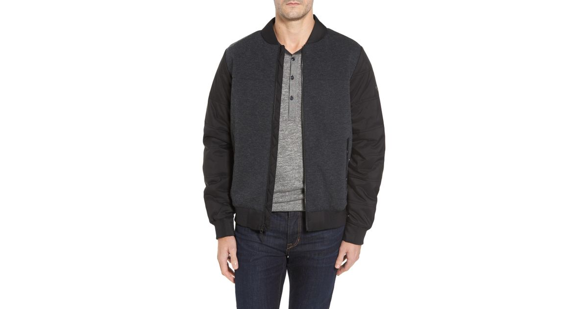 Lyst - The North Face Far Northern Hybrid Bomber Jacket in Gray for Men 240e6dfd3