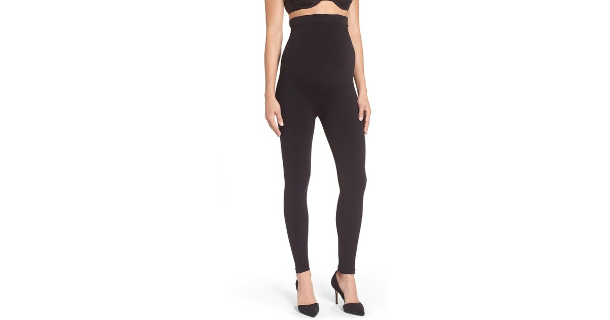 255037b7dd9f2 Lyst - Spanx Spanx Mama Look At Me Now Seamless Maternity Leggings in Black