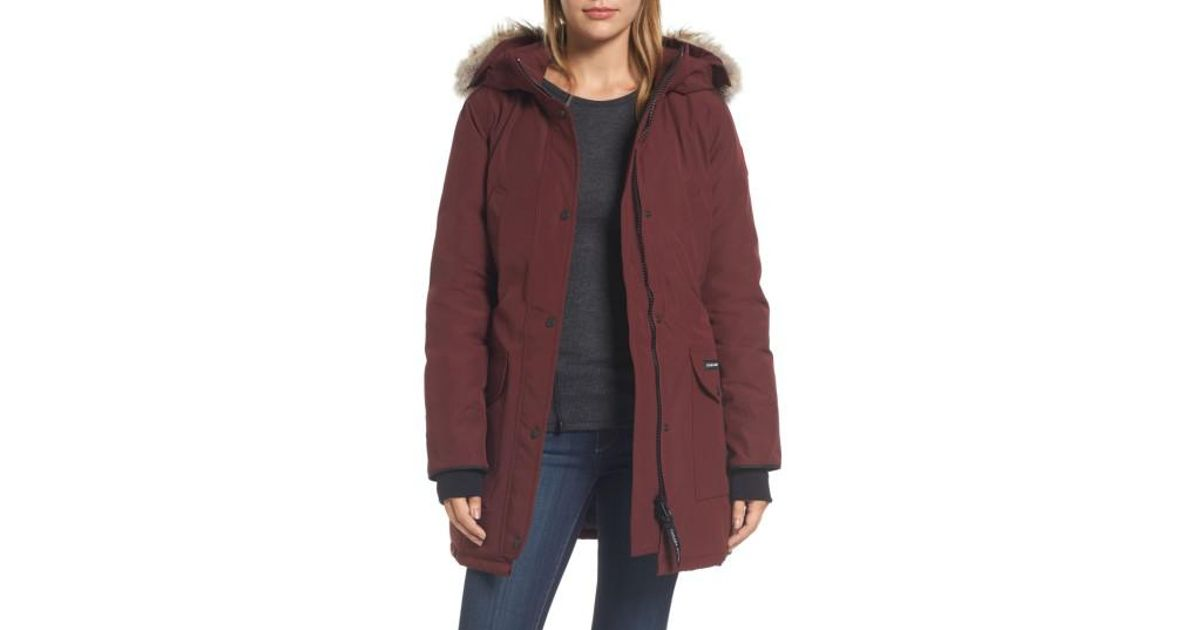Trillium' parka with genuine coyote fur trim