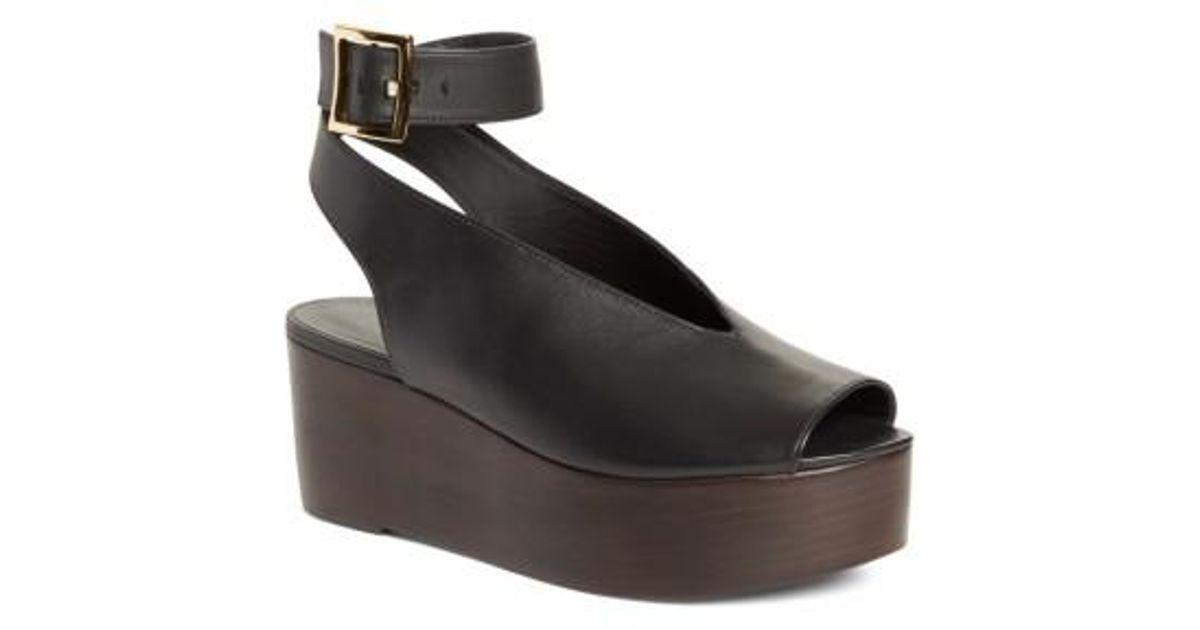 0f99b5b9b72 Lyst - Tibi Camilla Platform Sandal in Black