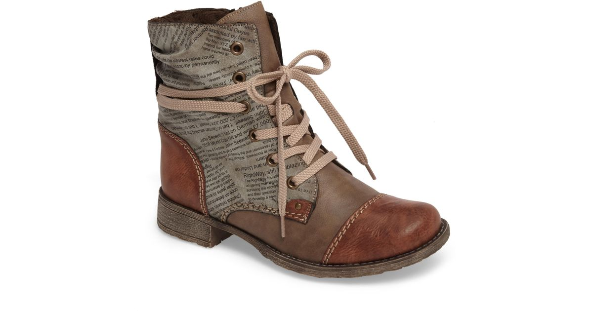 d76c560fbc3 Lyst - Rieker Antistress Payton 22 Lace-up Boot in Brown