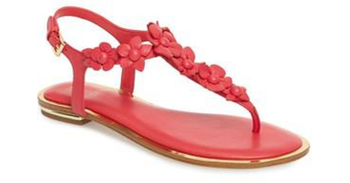 a5d5be779ee Lyst - MICHAEL Michael Kors Tricia Sandal in Pink - Save 47%