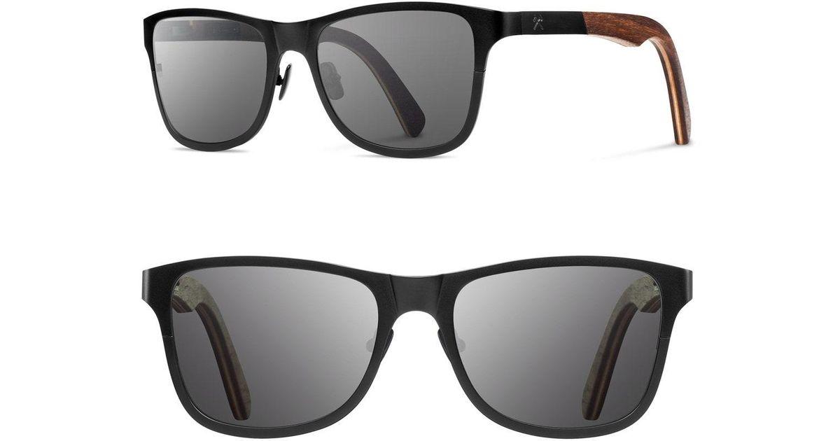 04af9af047 Lyst - Shwood  canby  54mm Titanium   Wood Sunglasses in Black for Men