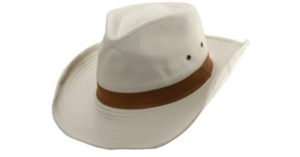 Lyst - Dorfman Pacific Cotton Outback Hat in Natural for Men b0c65f83538