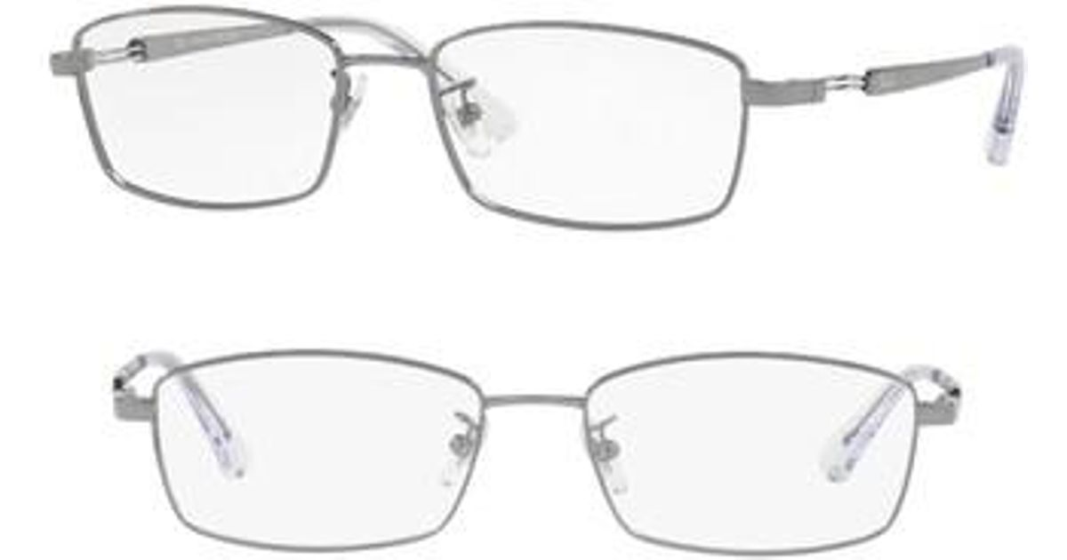 9fafe7fbb27 Lyst - Ray-Ban 55mm Optical Glasses - Gunmetal in Metallic for Men