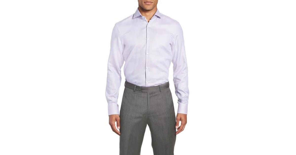 eaa7abfe9 Lyst Boss X Nordstrom Jerrin Slim Fit Solid Dress Shirt In Purple