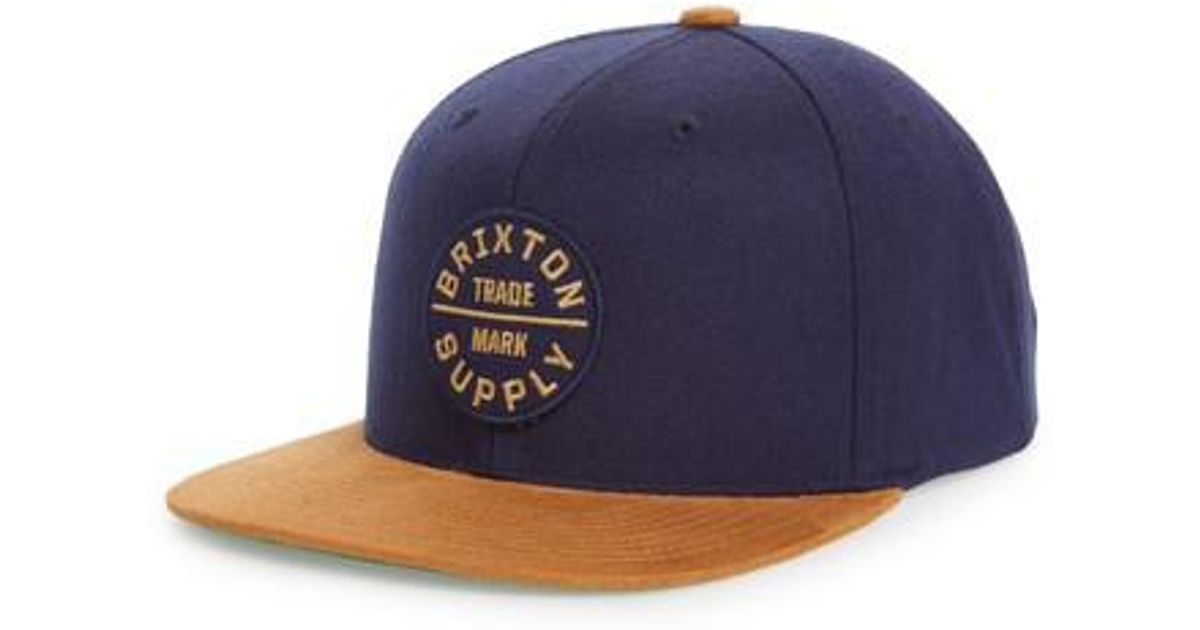 Lyst - Brixton  oath Iii  Snapback Cap - in Blue for Men - Save 57% 64a1a6680dcb