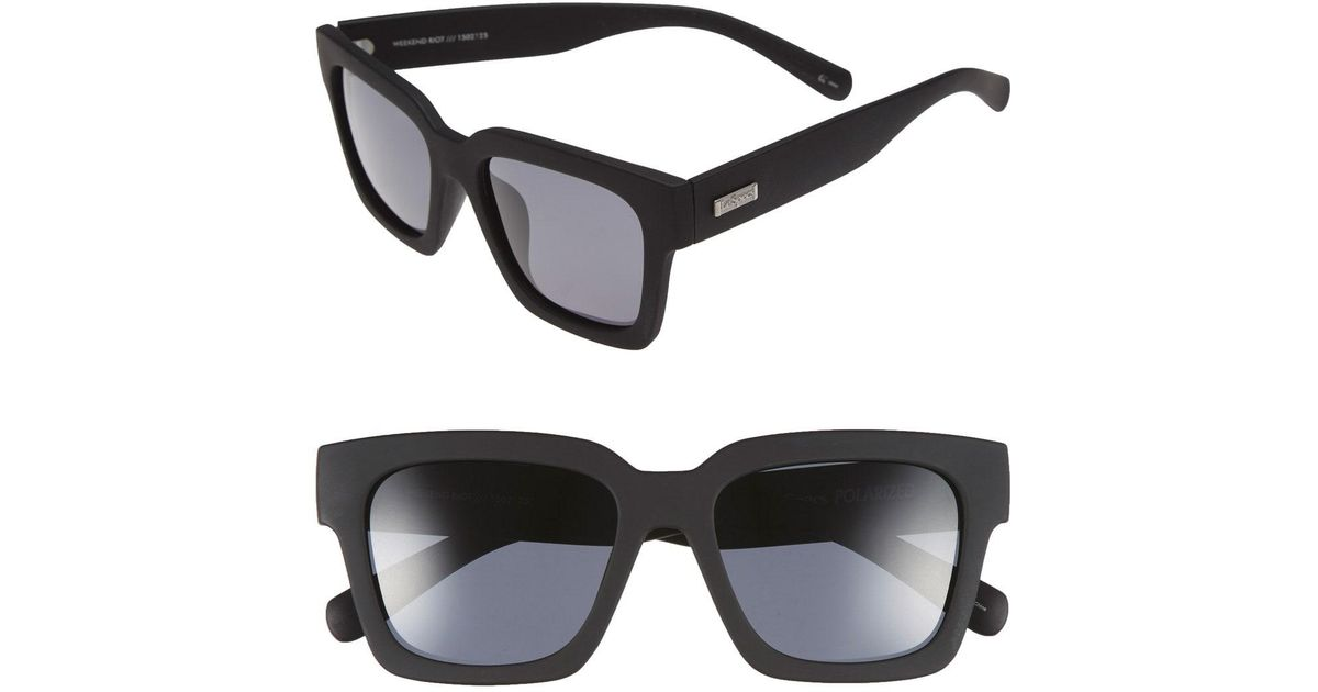 f69e3e309c0 Lyst - Le Specs  weekend Riot  55mm Sunglasses - in Black