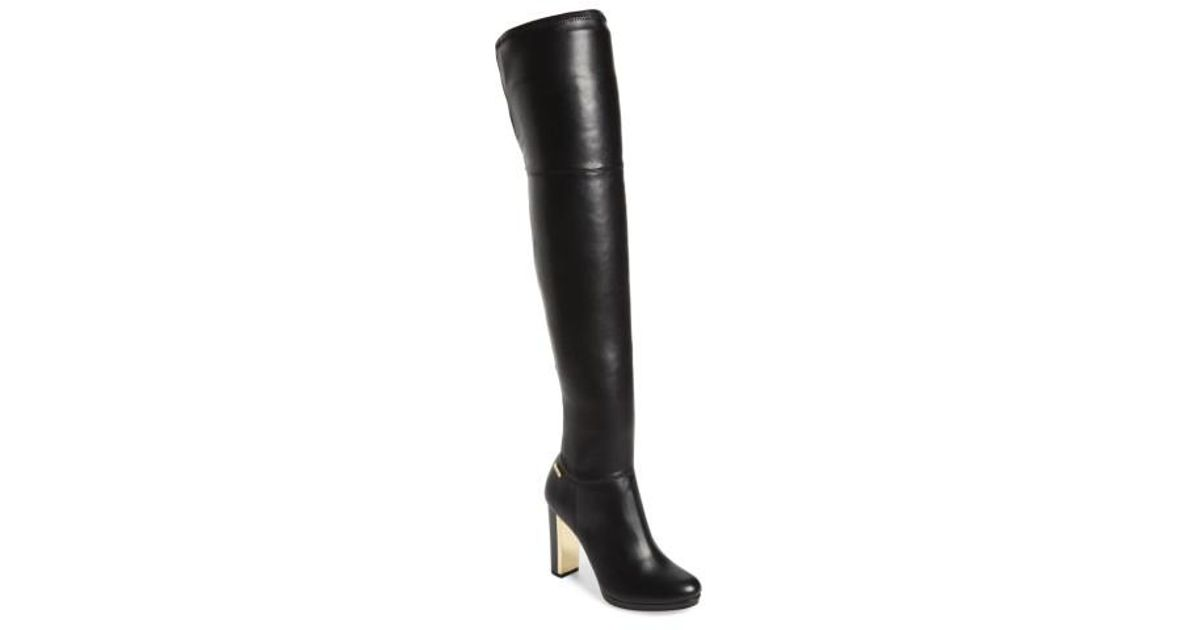dc354cd4c96 Lyst - Calvin Klein Pammie Over The Knee Boot in Black