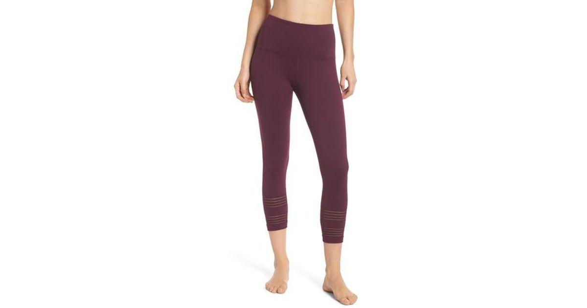 e47ca01c697b74 Lyst - Zella Twin High Waist Crop Leggings in Purple