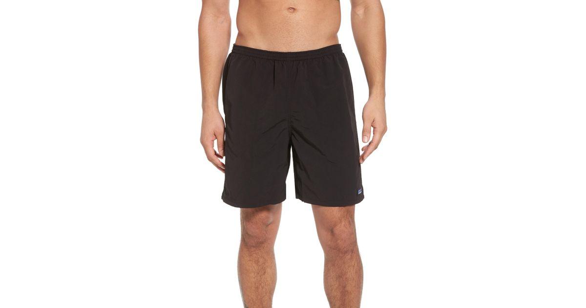 2e93d1bf3f3d Lyst - Patagonia Baggies 7-inch Swim Trunks in Black for Men