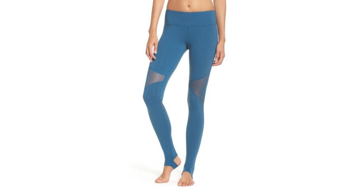 e4fc5383a723f Alo Yoga Coast Stirrup Leggings in Blue - Lyst