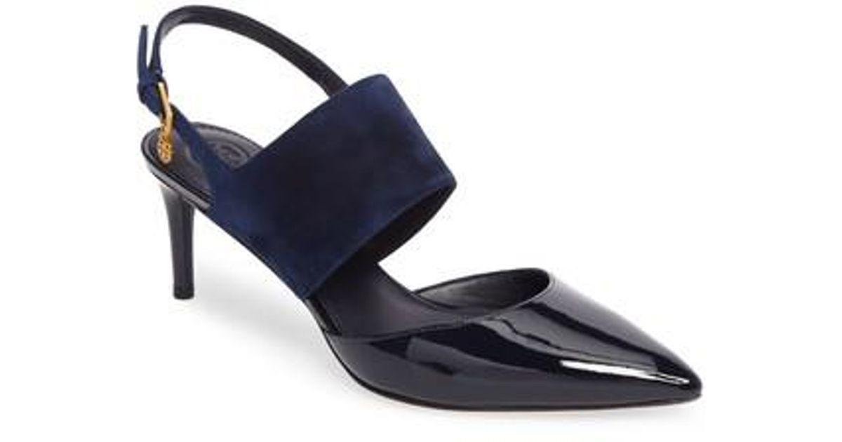 96ac61cd569 Lyst - Tory Burch Ashton Sandal in Blue