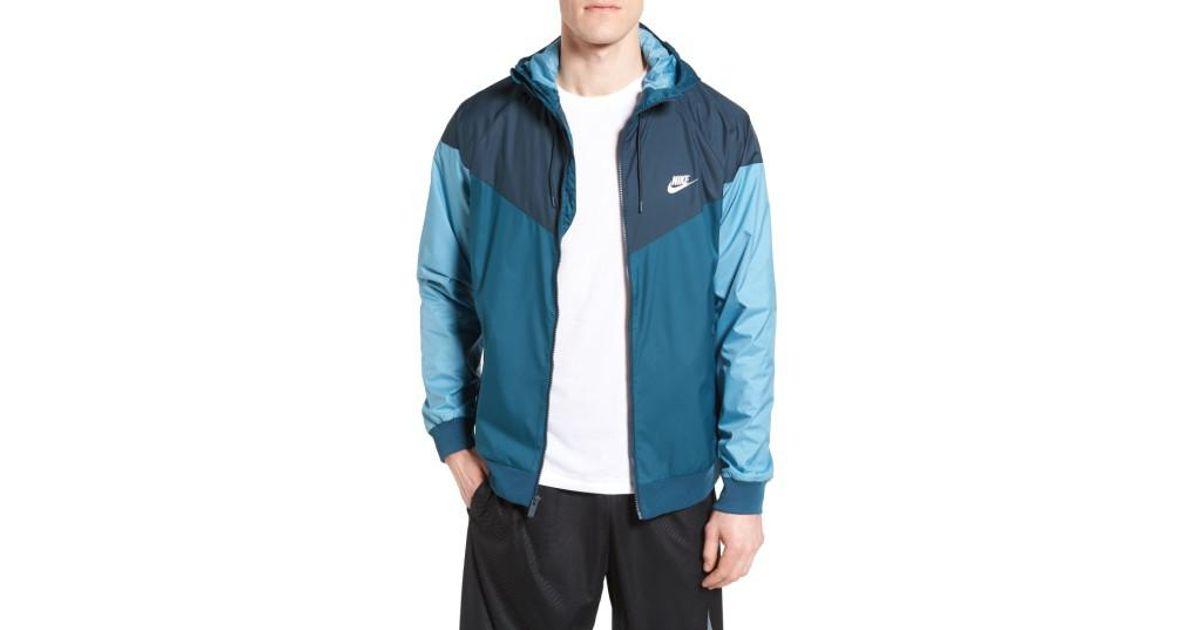 7405881dbae8 Lyst - Nike  windrunner  Colorblock Jacket in Blue for Men