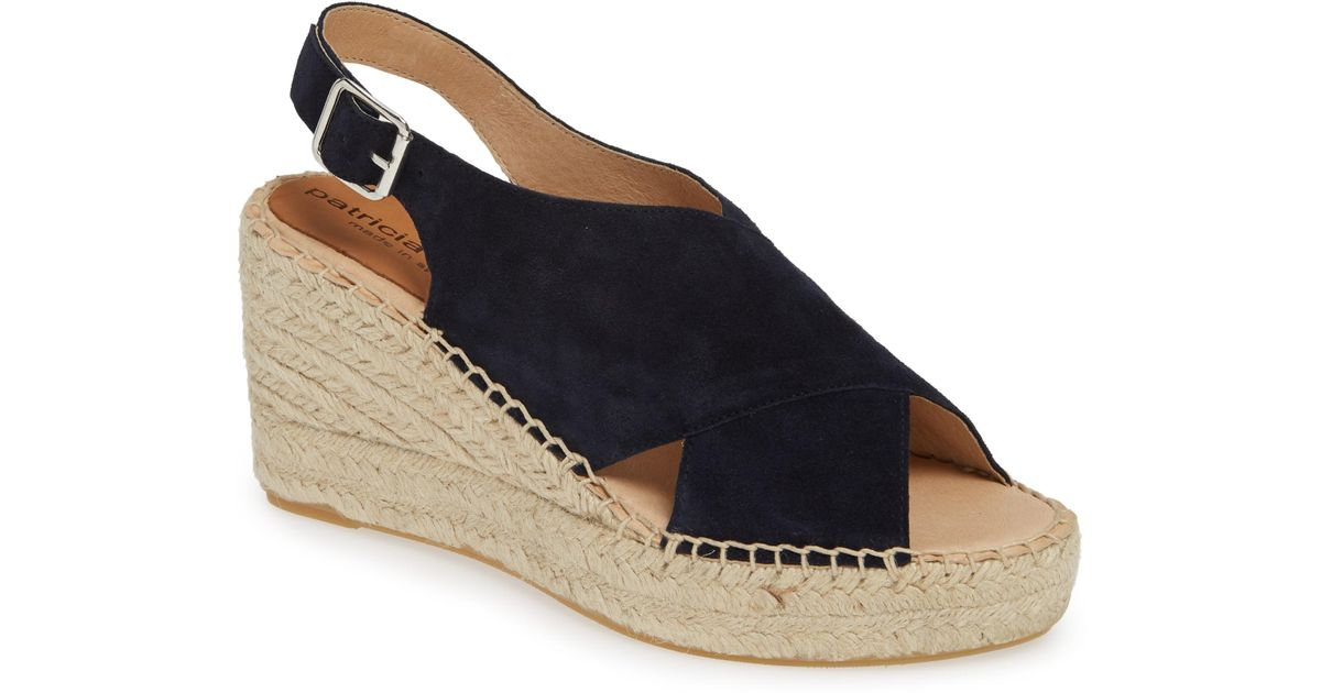 d7379144199 Lyst - Patricia Green Madeline Espadrille Wedge Sandal in Blue