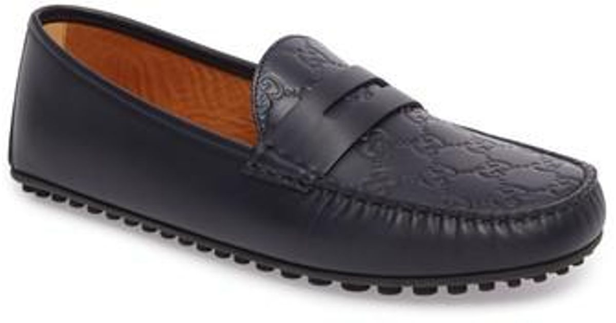 8222c9dff44 Lyst - Gucci  kanye  Driving Shoe in Blue for Men