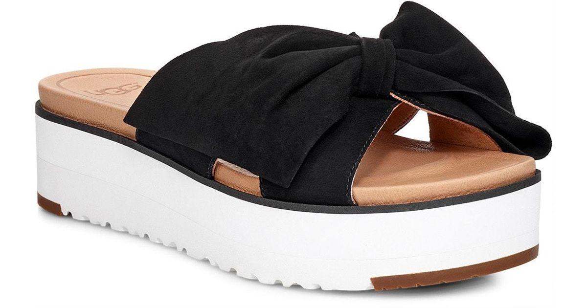 b1a6a0073f25 UGG Ugg Joan Ii Platform Slide Sandal in Black - Lyst