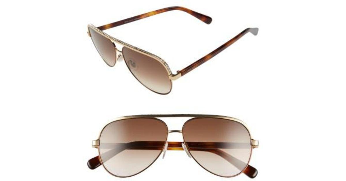 6d4916a406f0b Lyst - Jimmy Choo  linas  59mm Aviator Sunglasses in Pink