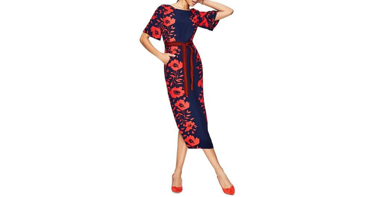73687efacbeb Lyst - Boden Kimono Sleeve Floral Print Dress in Red