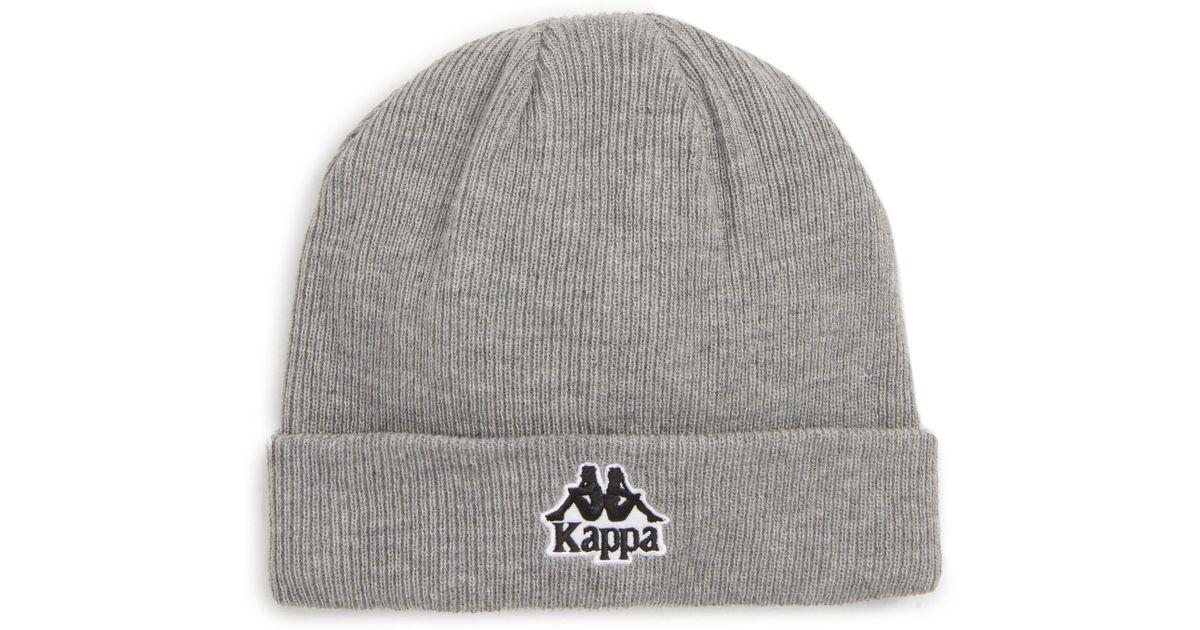 Lyst - Kappa Logo Knit Beanie - in Black - Save 53% 6745c8294be