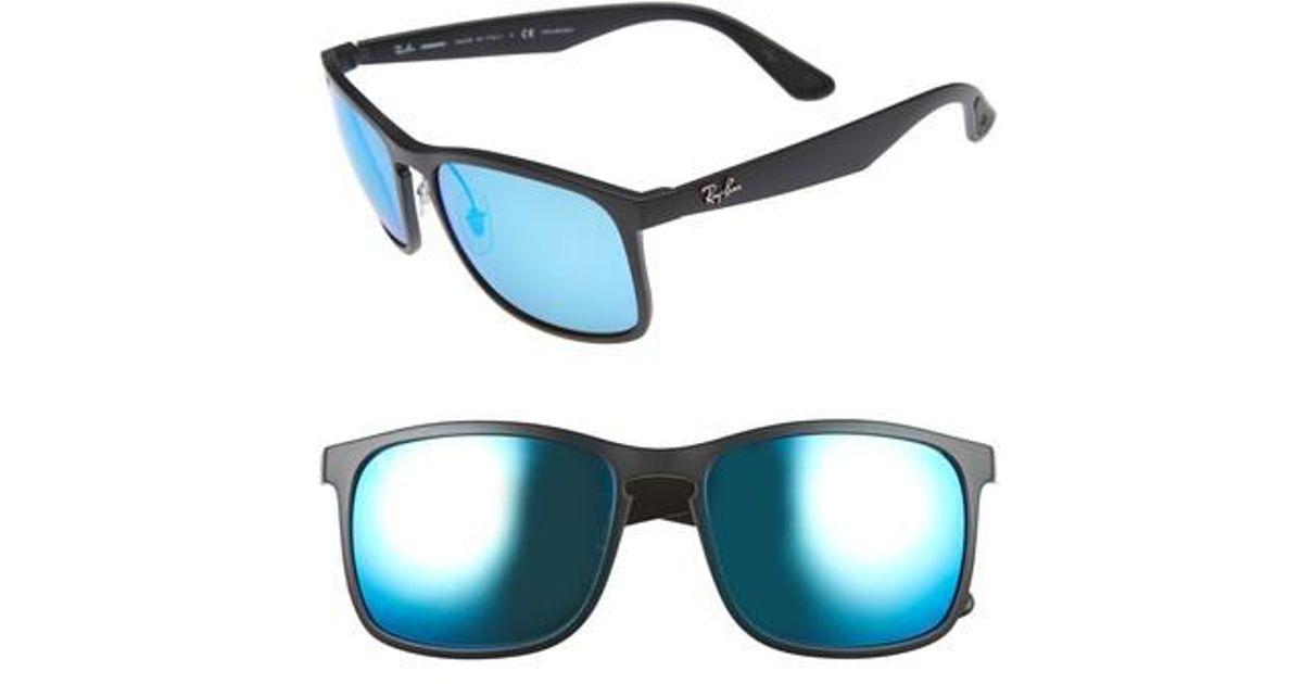8681ace0f0 Lyst - Ray-Ban Tech 62mm Polarized Wayfarer Sunglasses in Blue