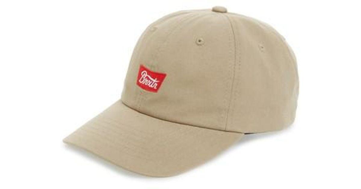 00b316adb Brixton - Natural Stith Baseball Cap for Men - Lyst