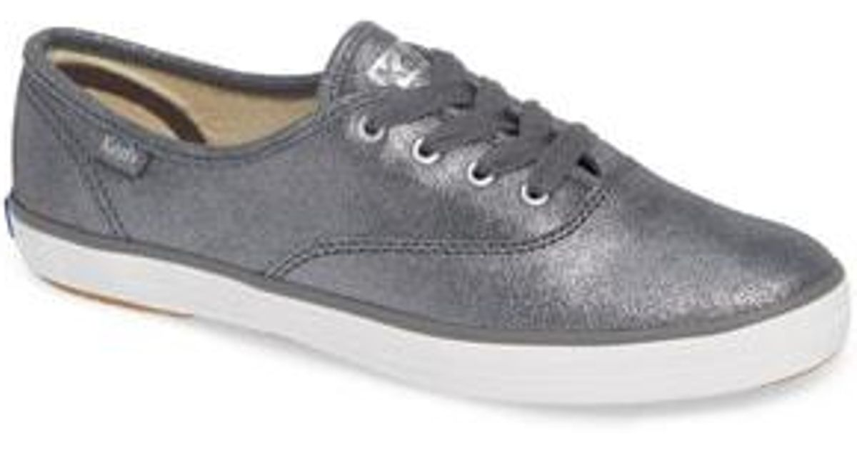 d5d46c792bc71 Lyst - Keds Champion Glitter Suede Sneaker in Gray