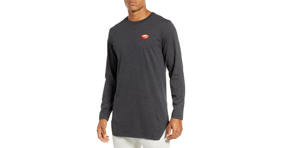 56df057b7 Lyst - Nike Nsw Shoe Box Graphic Long Sleeve T-shirt in Black for Men