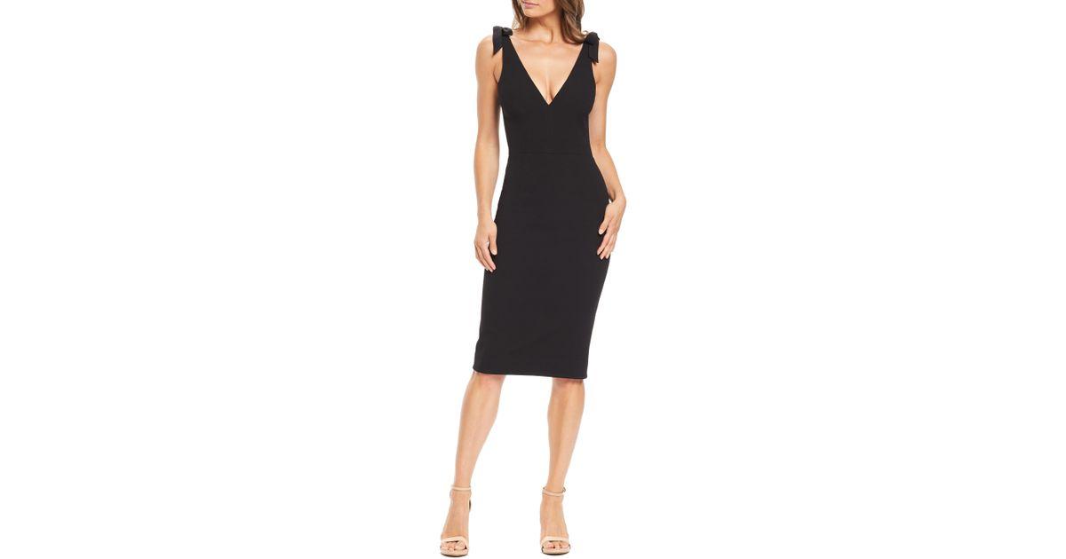 190f7a5594b0 Dress the Population Lita Tie Cocktail Dress in Black - Lyst