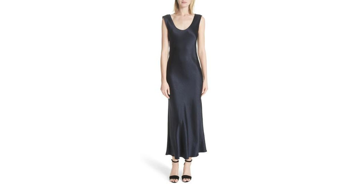 487d7dcee1e Theory Cowl Back Midi Dress in Blue - Lyst