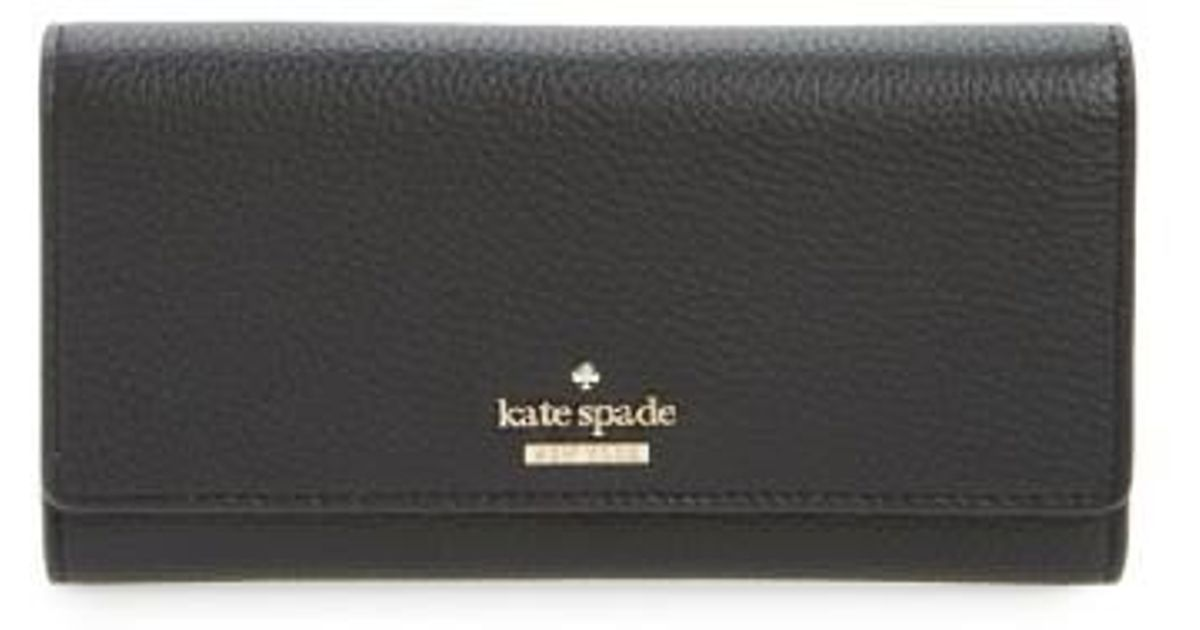 b8b54bbf4136 Lyst - Kate Spade Jackson Street - Celina Leather Wallet in Black