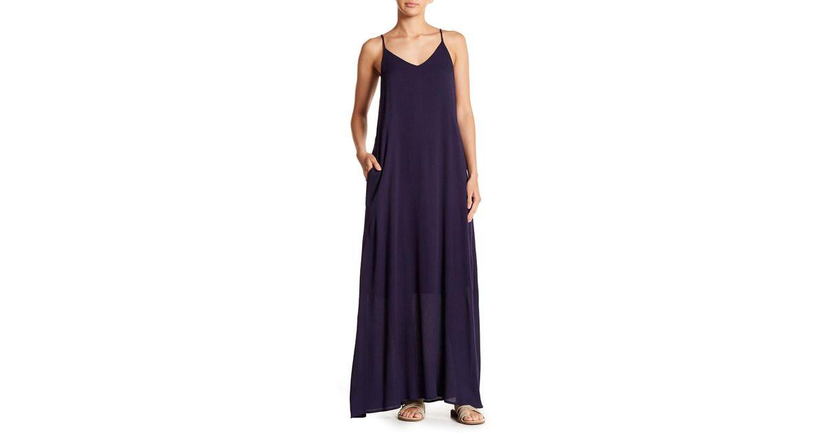 ed7259a8ea8 Lyst - West Kei Gauze V-neck Maxi Dress in Blue
