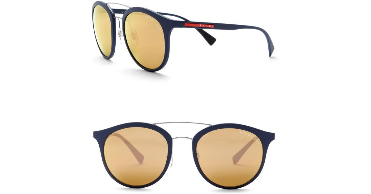 9232ed7ab76cf Lyst - Prada Phantos 54mm Sunglasses in Blue for Men