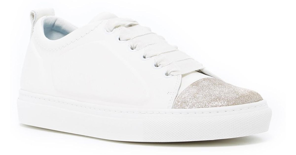 shopping online with mastercard Lanvin Embossed Cap-Toe Sneakers free shipping best place amazon cheap price under $60 JQsyg0UsJ