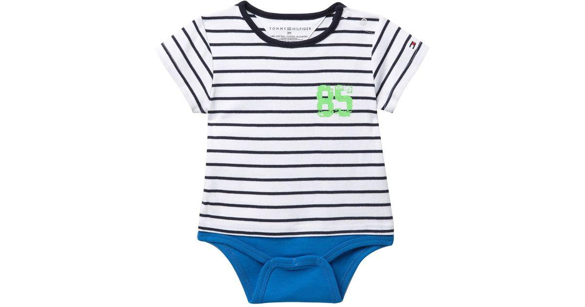 95eb81382df4 Lyst - Tommy Hilfiger Tommy Striped Bodysuit (baby Boys 12-24m) in Blue for  Men