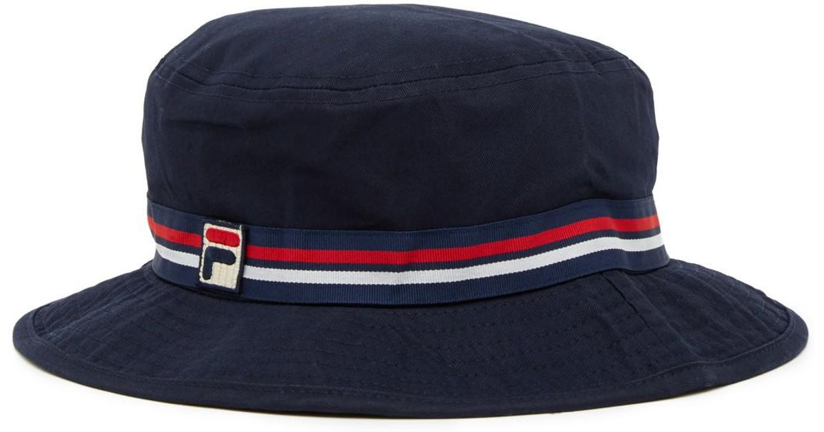 4b7210a6184 Lyst - Fila Heritage Boonie Bucket Hat in Blue for Men