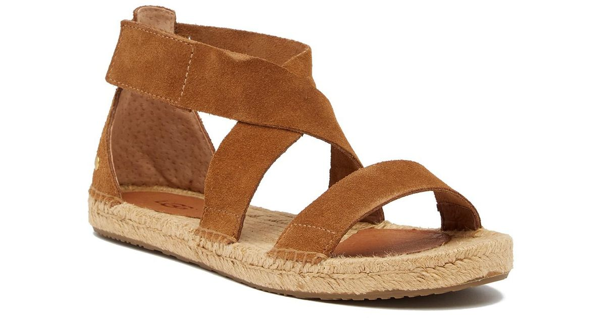 5ad3429c899f Lyst - UGG Mila Strappy Flat Sandal in Brown