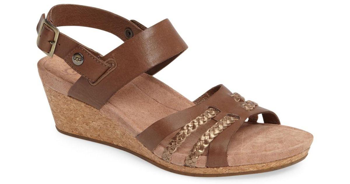 710234775fc5 Lyst - UGG Ugg(r) Serinda Wedge Sandal (women) in Brown