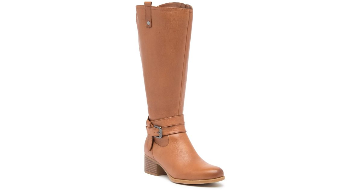 6a37d8d4d42d Lyst - Naturalizer Kim Ankle Strap Leather Boot - Wide Width Available in  Brown