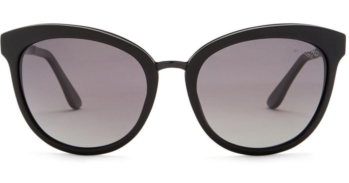 9463e6ec02 Lyst - Tom Ford Women s Emma Polarized 56mm Cat Eye Sunglasses